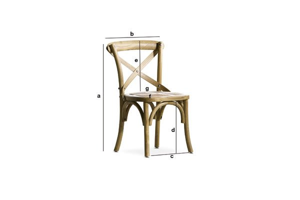 Dimensions du produit Chaise pour enfant Pampelune