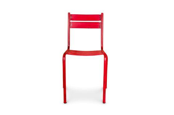 Chaise Pretty rouge patinée Détouré