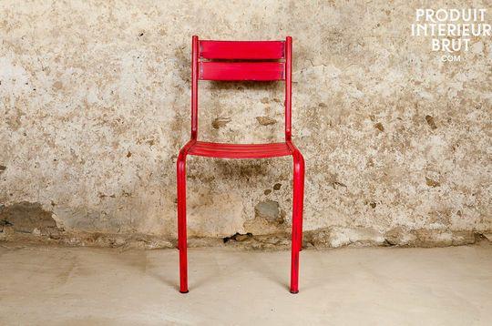 Chaise Pretty rouge patinée