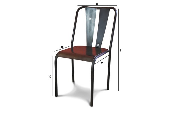 Dimensions du produit Chaise Propriano