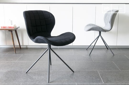 Chaise nordique scandinave hetsik noire