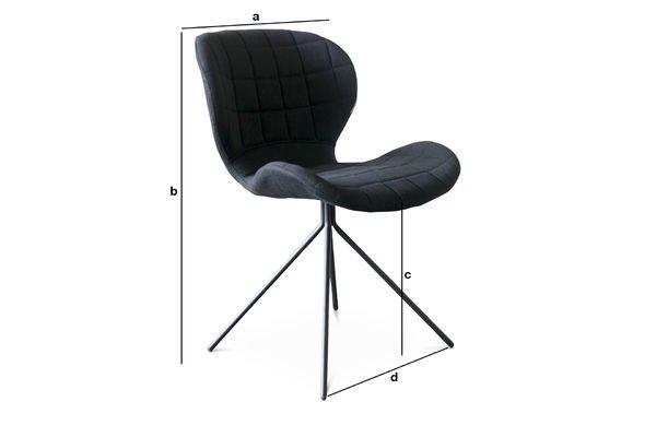 Dimensions du produit Chaise Scandinave Hetsik noire