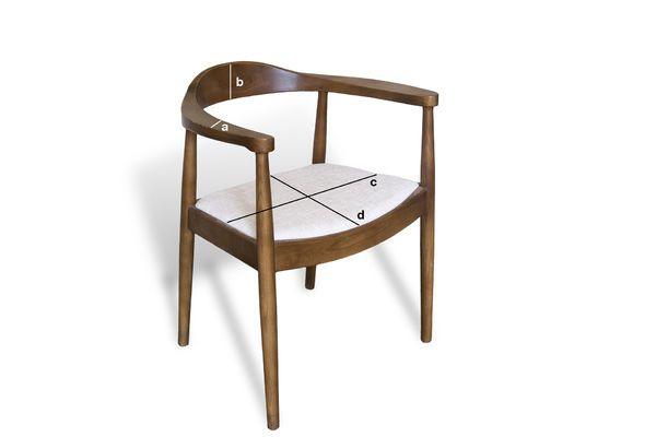 Dimensions du produit Chaise scandinave Johannes
