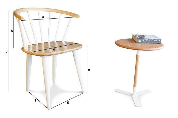 Dimensions du produit Chaise Scandinave Lindigö