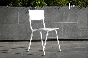Chaise Scandinave Skole blanche