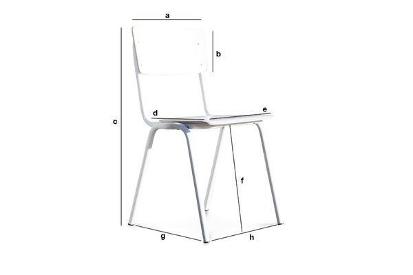 Dimensions du produit Chaise Scandinave Skole blanche