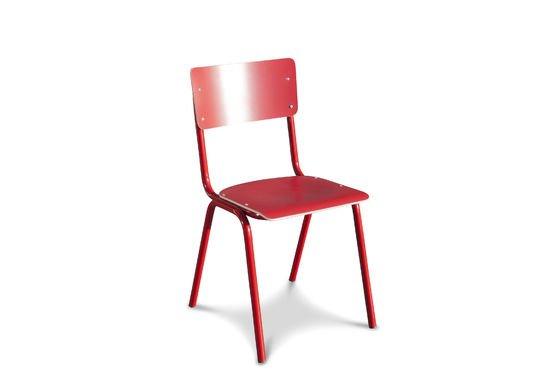 Chaise Skole rouge Détouré