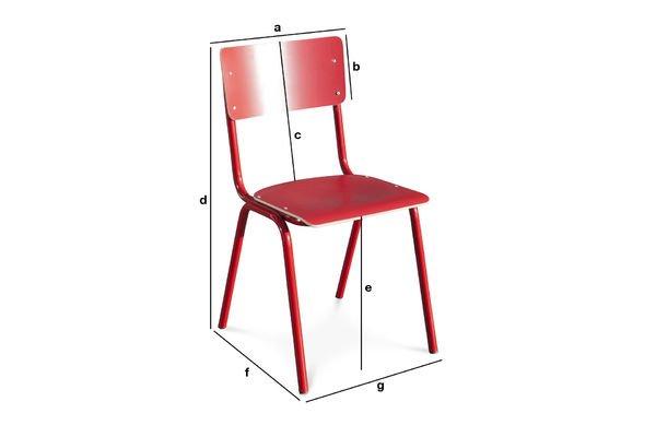 Dimensions du produit Chaise Skole rouge