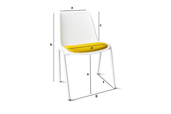 Dimensions du produit Chaise Sören Ocre
