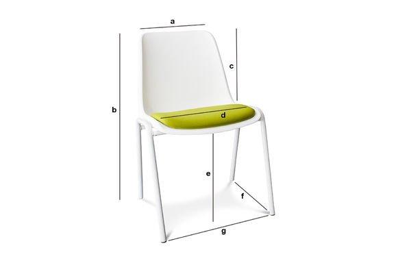 Dimensions du produit Chaise Sören Vert