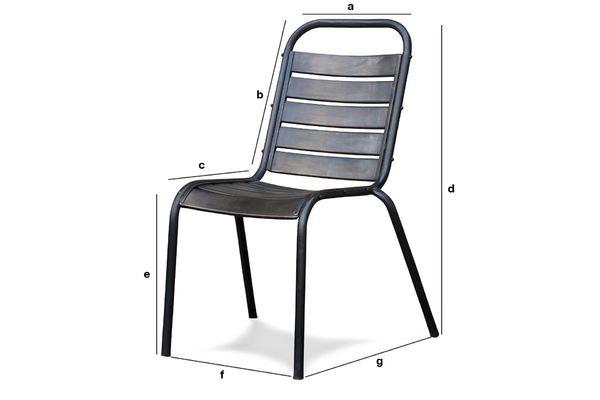 Dimensions du produit Chaise Square