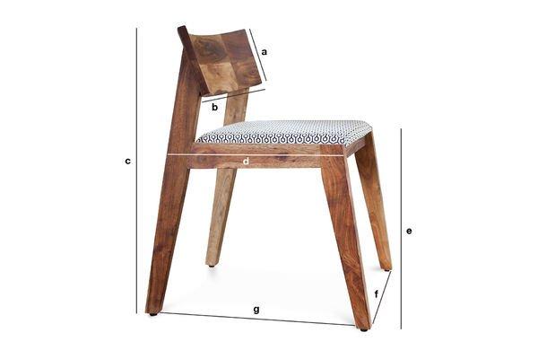 Dimensions du produit Chaise Stockholm
