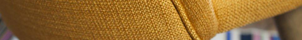 Mise en avant matière Chaise vintage Lear Moutarde