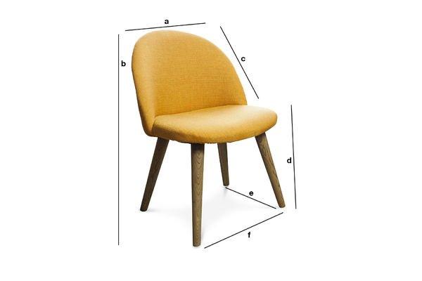 Dimensions du produit Chaise vintage Lear Moutarde