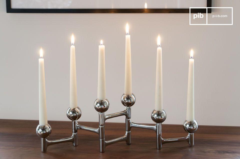 Un accessoire élégant et modulable pour six bougies