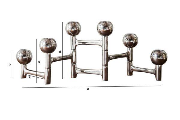 Dimensions du produit Chandelier chromé Hexabal