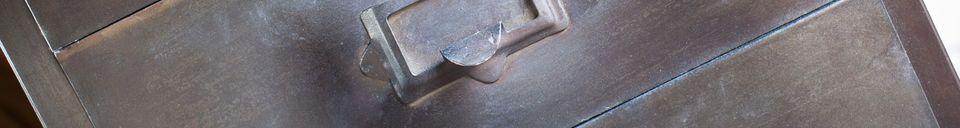 Mise en avant matière Classeur en métal 8 tiroirs Telex
