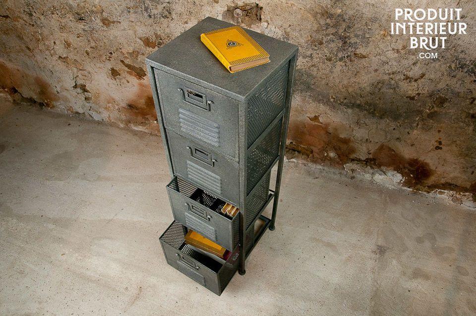 Un meuble à personnaliser avec une étiquette cartonnée pour chaque tiroir