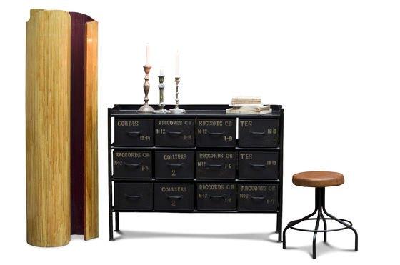 commode d 39 atelier 12 tiroirs meuble factory pour le rangement. Black Bedroom Furniture Sets. Home Design Ideas