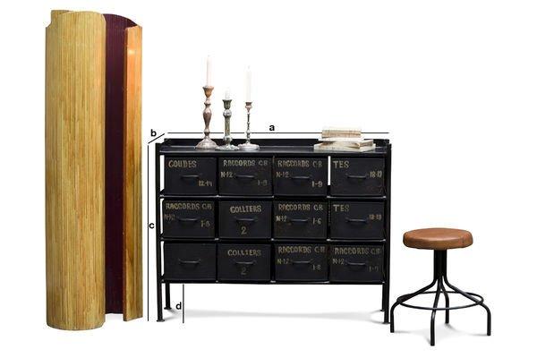 Dimensions du produit Commode d'atelier 12 tiroirs
