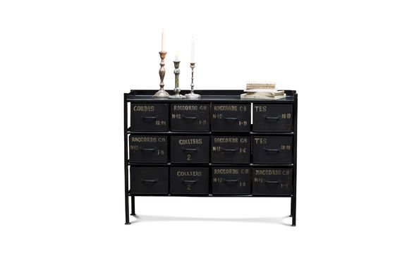 commode d 39 atelier 12 tiroirs meuble factory pib. Black Bedroom Furniture Sets. Home Design Ideas