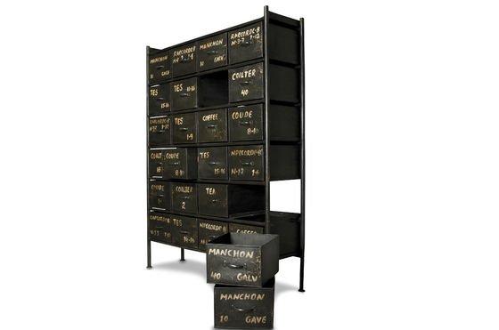 Commode d'atelier 24 tiroirs Détouré
