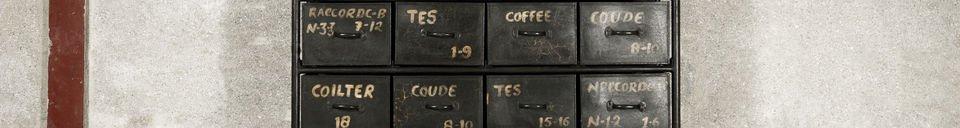 Mise en avant matière Commode d'atelier 24 tiroirs
