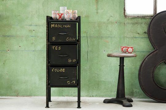Commode industrielle d'atelier 3 tiroirs