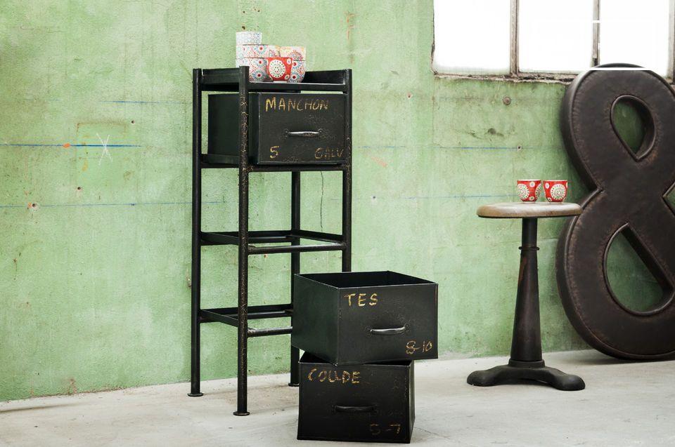 Un meuble de rangement 100% style industriel vintage