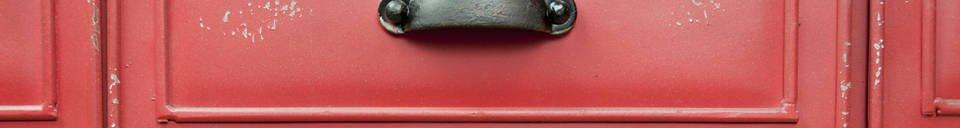 Mise en avant matière Commode en métal Brighton