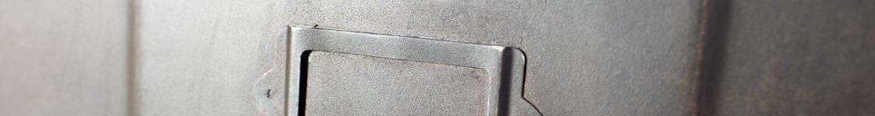 Mise en avant matière Commode métallique 5 clapets