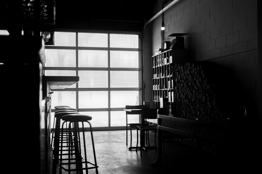 Comptoir noir et blanc