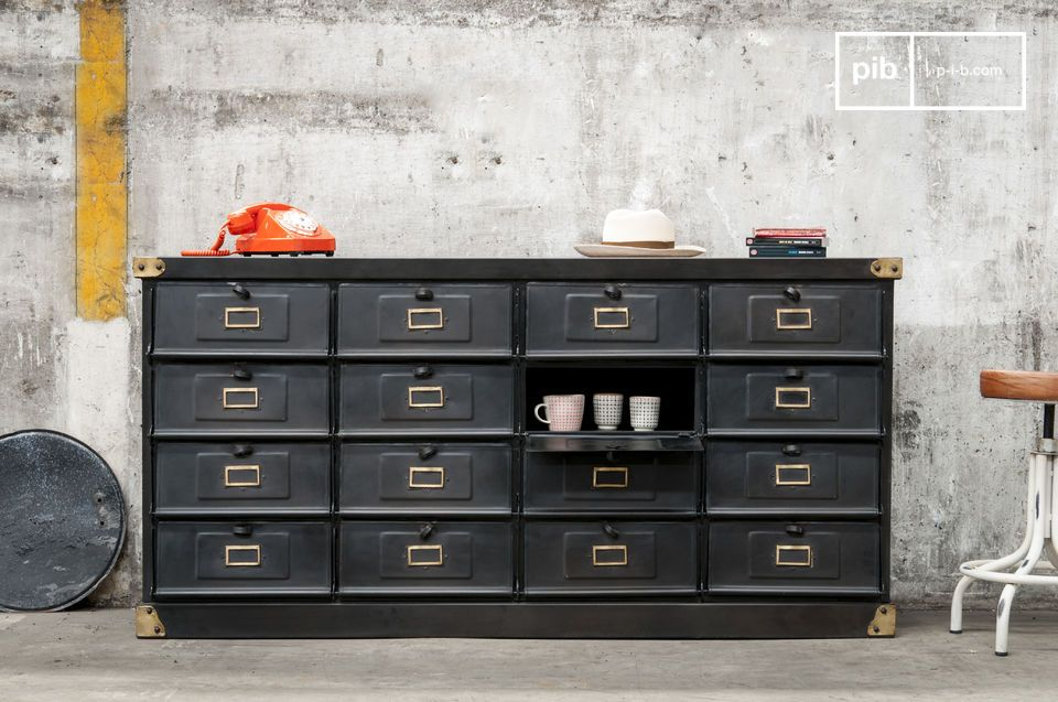 comptoir m tallique style industriel pib. Black Bedroom Furniture Sets. Home Design Ideas