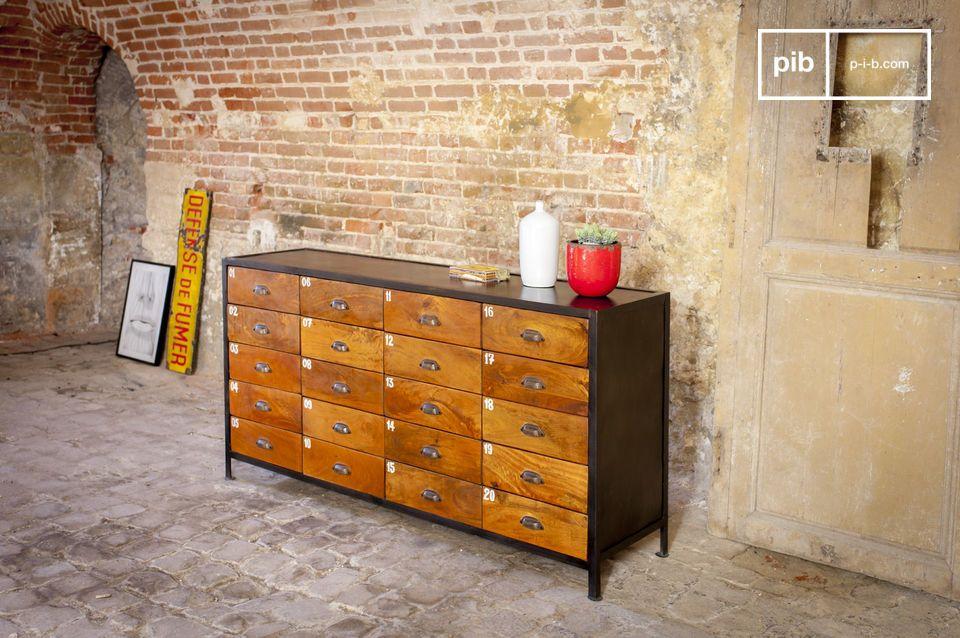 Style industriel et 20 tiroirs pour tout ranger