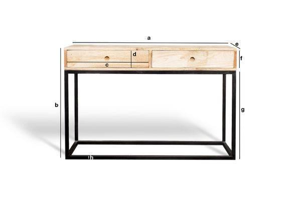 console tiroirs austin une conception bi mati re pib. Black Bedroom Furniture Sets. Home Design Ideas