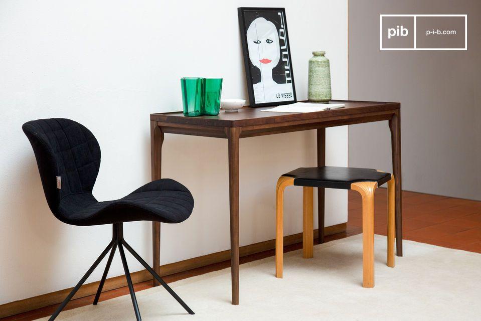 Une magnifique console-bureau en bois noble