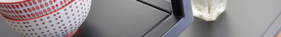 Mise en avant matière Console métallique noire Duvignac