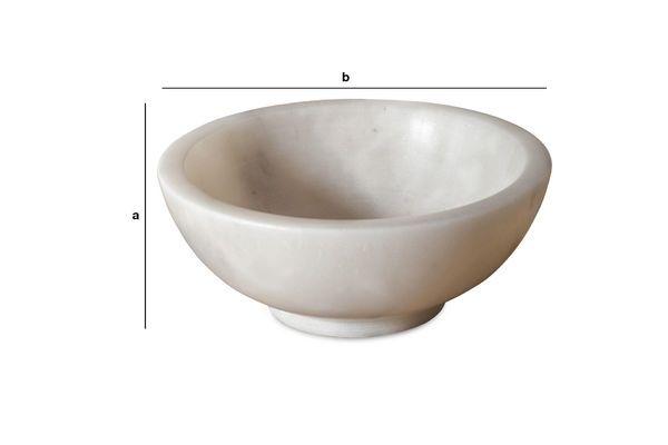 Dimensions du produit Coupelle en marbre blanc Wäg