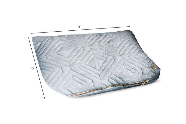 Dimensions du produit Coussin Quilt gris clair