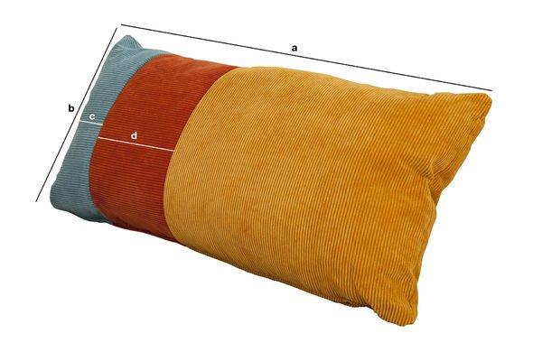 Dimensions du produit Coussin tricolore Mathis