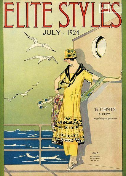 Couverture d'un magazine des années 20