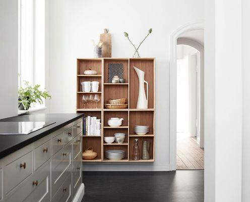 Cuisine design avec armoire en bois