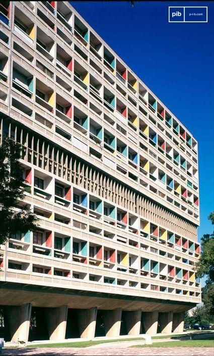 Début du style International - L'Unité d'habitation à Marseille