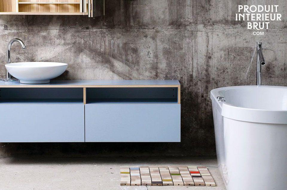 Une descente de bain à la fois décorative et fonctionnelle