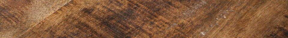 Mise en avant matière Desserte en bois Paddington