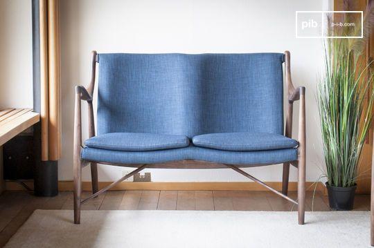 Double fauteuil en frêne Graham