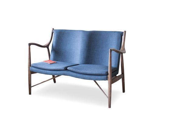 Double fauteuil en frêne Graham Détouré