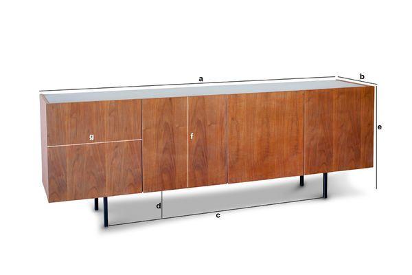 Dimensions du produit Enfilade bois et marbre Lovisa