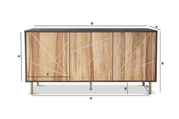 Dimensions du produit Enfilade en bois Linéa