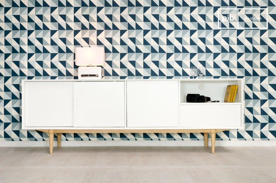 Optez pour un meuble de rangement scandinave qui associe la praticité d\'une conception moderne et l\'élégance du design scandinave dans un style vintage